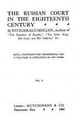 The Russian court in the eighteenth century. Volume 2