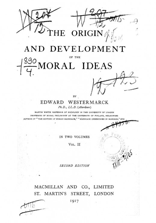 The origin and development of the moral ideas. Volume 2