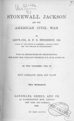 Stonewall Jackson and the American Civil war. Volume 2