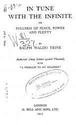 In tune with the infinite or fullness of peace, power and plenty
