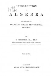 Introduction into algebra for the use of secondary schools and technical colleges. Third edition