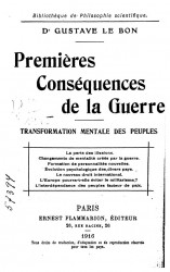 Premieres consequences de la guerre. Transformation mentale des peuples