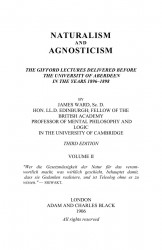 Naturalism and agnosticism. Volume 2