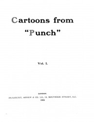 "Cartoons from ""Punch"". Vol. 1"