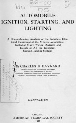 Automobile ignition, starting, and lighting