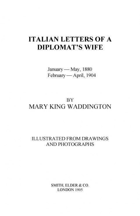 Italian letters of a diplomat's wife