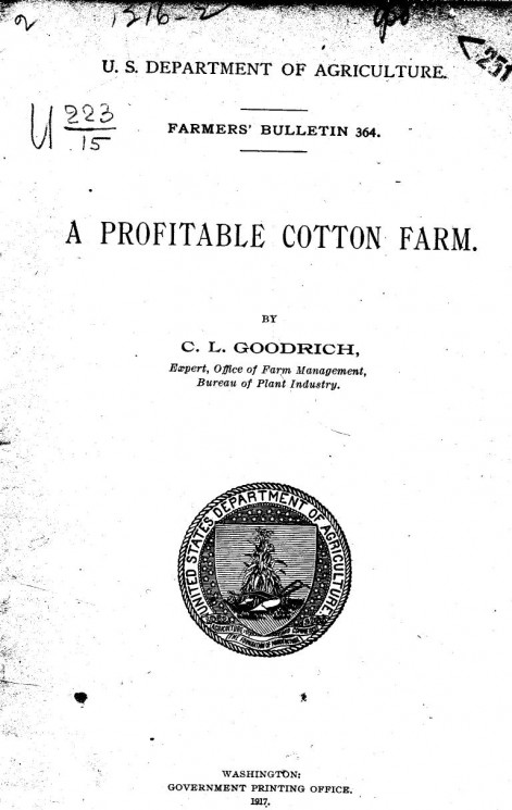 A profitable cotton farm