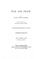 War and peace. Four volumes in two. Volume 2. Part 3-4