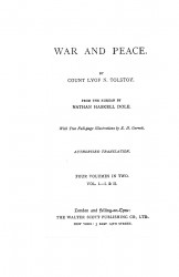 War and peace. Four volumes in two. Volume 1. Part 1-2