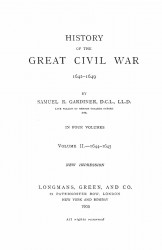 History of the great civil war 1642-1649. Volume 2 - 1644-1645