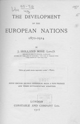 The development of the European nations 1870-1914. 5 edition