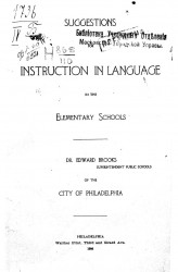 Suggestions for instruction in language in the elementary school