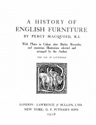 A history of English furniture. Volume 4. The age of satinwood