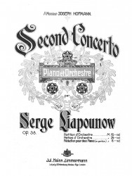 Second concerto pour piano et orchestre. Op. 38. Reduction pour 2 pianos (en partition)
