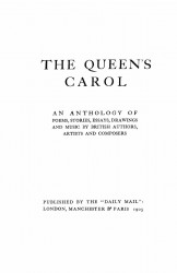 The Queen's carol. An anthology of poems, stories, essays, drawings and music