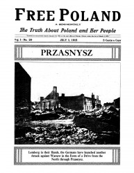 Free Poland. A semi-monthly. The truth about Poland and her people. Vol. 1. №№ 20-24