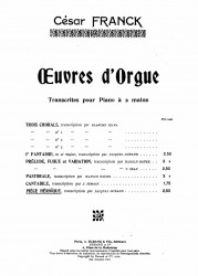Piece heroique extraite des pieces d'orgue. Op. 16